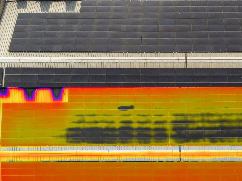 Termografia con drone, ispezione pannelli fotovoltaici