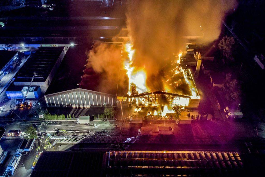 Ricerca e soccorso con drone, incendio