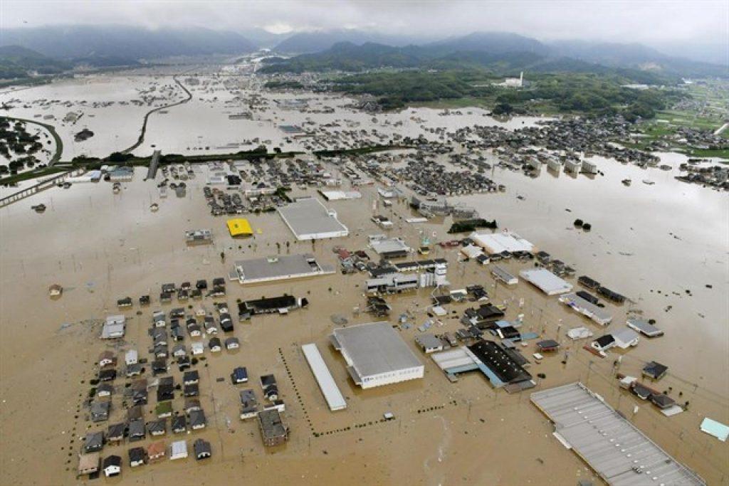 Ricerca e soccorso con drone, alluvione