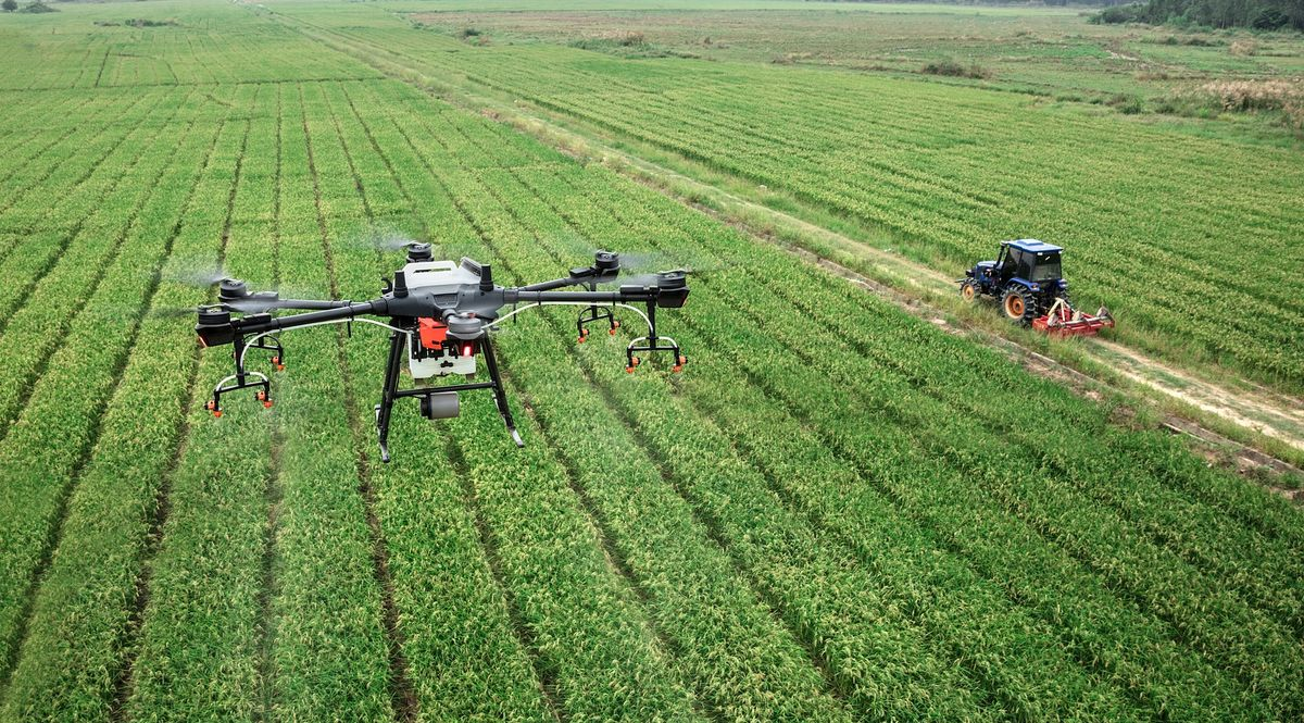 Agricoltura di precisione con drone Dji Agras